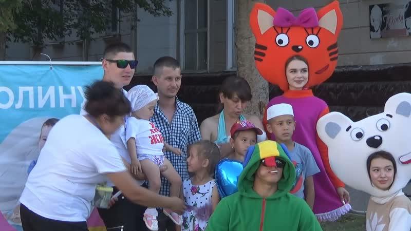 UTV На площади Металлургов прошла благотворительная фотосессия в поддержку Полины Елсуковой