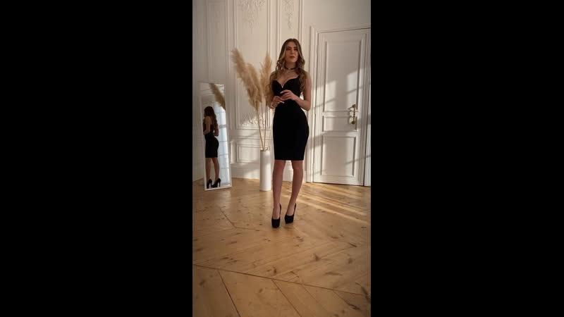 Бандажное платье с сеточкой под бюстом🖤