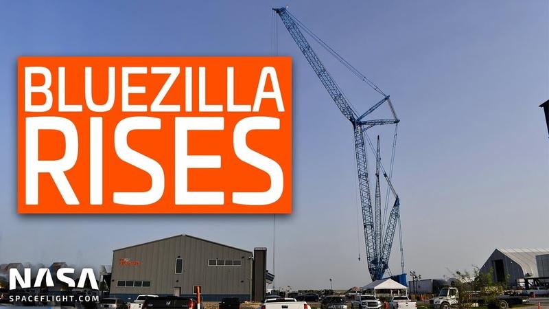 SpaceX Boca Chica - Bluezilla Rises! Super Heavy High Bay Builder