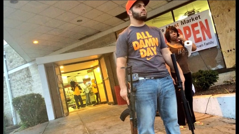 Business Owners protecting their Stores with firearms from looters American Riots USA Protests