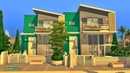 MODERN FAMILY DUPLEX | THE SIMS 4 | NO CC | Twin Houses | Stop Motion