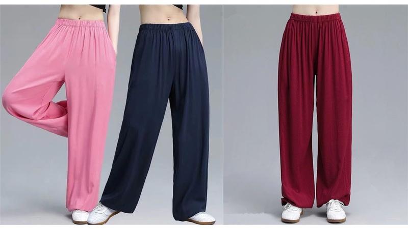 женские летние спортивные штаны из хлопка и льна шаровары на резинке