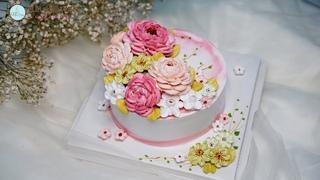 Making Beautiful Flowers Cake For International Women's Day   Bánh hoa đẹp mừng ngày quốc tế phụ nữ
