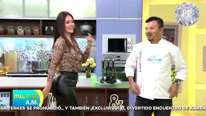 Giulliana Barrios in Leather Pants Leggings