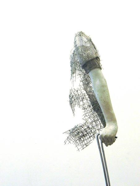 Концептуальные скульптуры из проволоки от Лене Килде