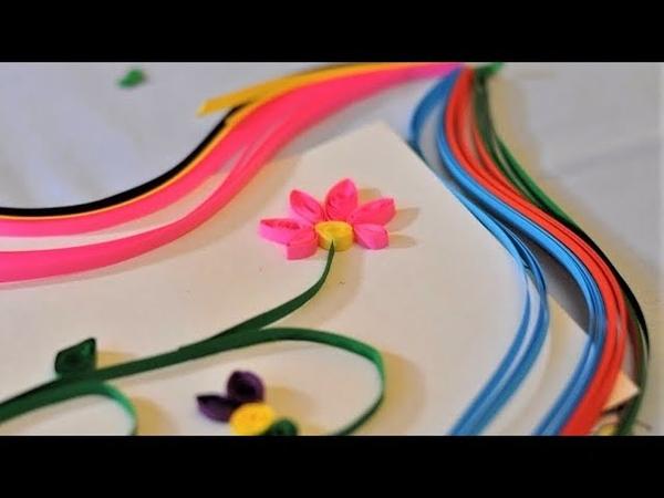 DIY Квиллинг для детей Детские поделки из бумаги в технике квиллинг Paper quilling for children