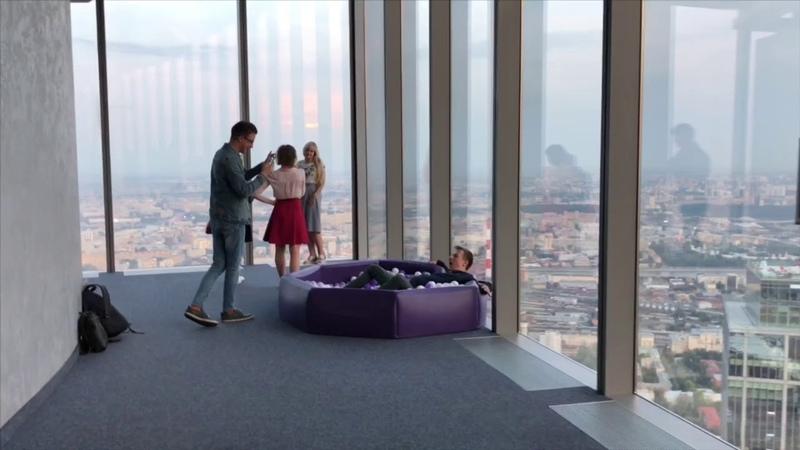 Смотровая площадка в Москва Сити на 89 этаже башни Федерация